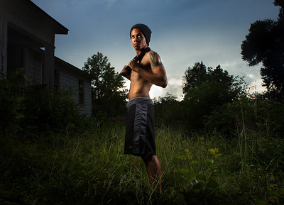 James Dixon, who holds two black belts in martial arts, is training for his first MMA fight.